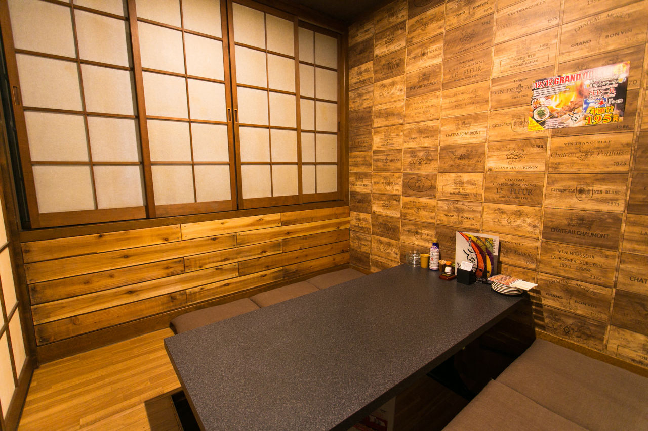 女性が入りやすい雰囲気の個室完備!