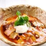 鰻と自家製豆冨のとろろチーズ焼き