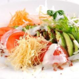 アボカドとトマトの湯葉サラダ