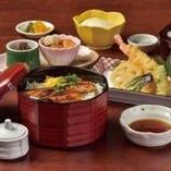 穴子丼と季節の天麩羅御膳