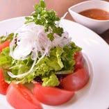 フレッシュトマトとオニオンのイタリアンサラダ
