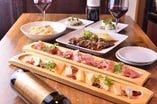 《生ハムとチーズコース☆ボトルワイン1本付☆》 こだわりの食材を美味しい料理で舌鼓5品5500円