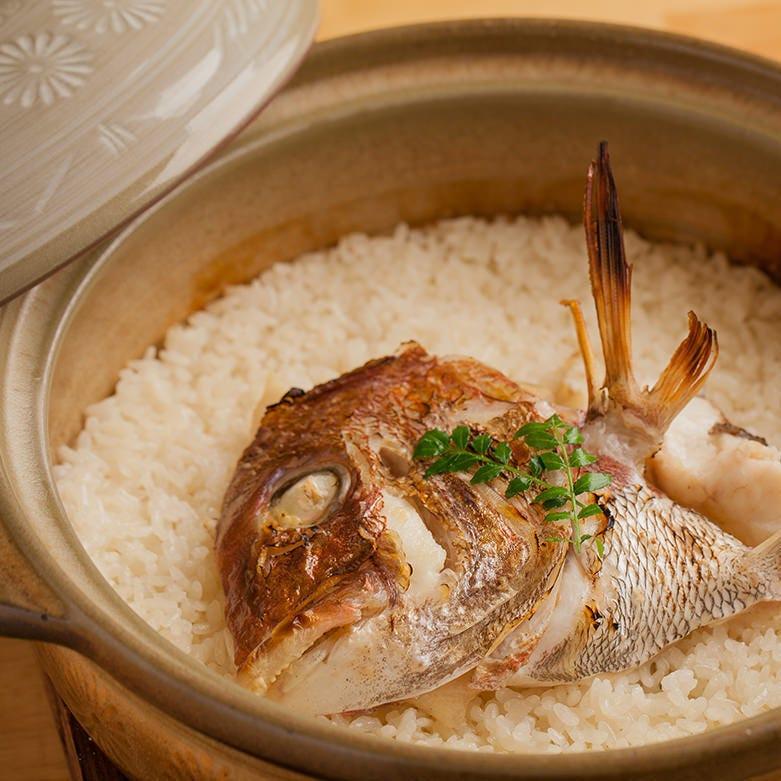 ≪鯛めしコース≫ お料理のみ5500円コース