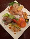 本日の鮮魚のカルパッチョ5種盛り合わせ