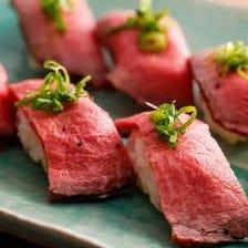 人気ランキングNo1★炙り肉寿司食べ放題7品3時間飲み放題4380→3280円