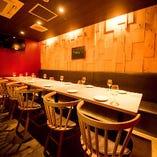 【半個室テーブル席】パーティや女子会に最適なセミプライベート空間|12~20名様