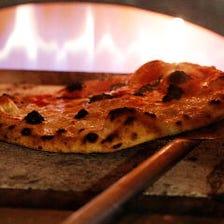 本場ナポリの窯焼きピザ