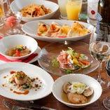 特製ピザやパスタなど人気料理が勢揃い「宴会コース」は各種パーティーにおすすめ