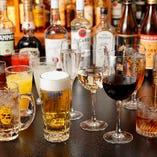 宴会コースに付く飲み放題は生ビールやワインなど20種類以上を堪能できます