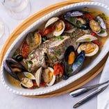 豊洲直送新鮮魚介や、朝獲れ野菜を丸ごとイタリアンに