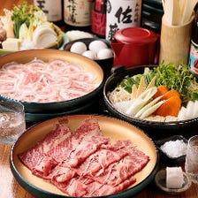 【2H食べ放題】上牛肉か国産豚を選択「すきやき・食べ放題プラン」(全3品)各種宴会・食事会