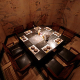 当店のお席は全席、掘りごたつ式や離れ個室など大小多彩な個室席