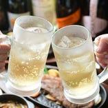 普段の飲み会から、特別な日のご利用まで多彩なドリンクをご用意
