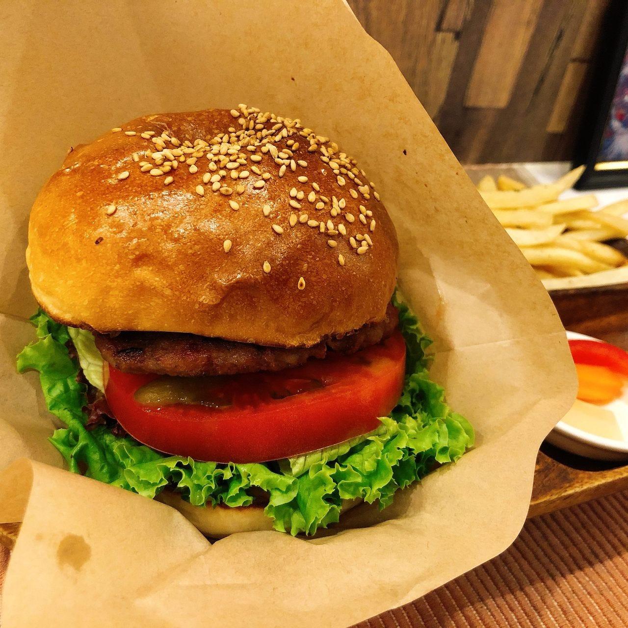 テイクアウトぐるなびネット予約♪ハンバーガー ポテト付き♪
