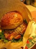◆ランチ限定◆ねぎ塩タレのチキンバーガー