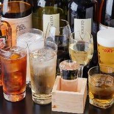飲み放題でお酒もしっかり満喫