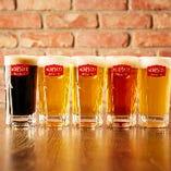 当店オリジナルビールは全5種類!