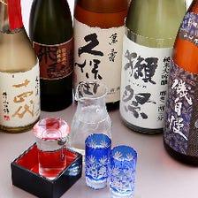 地酒、焼酎の人気銘柄を楽しむ