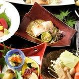 【会席料理】 旬を味わう会席コースは飲み放題付プランもご用意