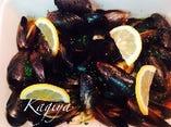 山盛りムール貝の前菜