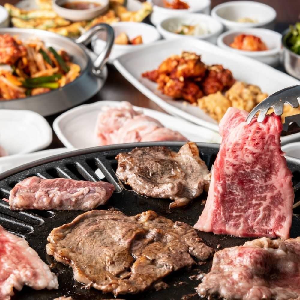 牛焼肉と豚焼肉&選べる韓国鍋×定番韓国料理を堪能コースが登場