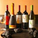 《ドリンク》 果実酒やボトルワインも種類豊富にそろえています