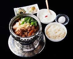 スペアリブの角煮鍋定食