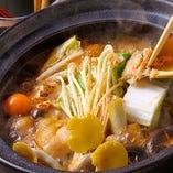 名古屋コーチンの味噌鍋