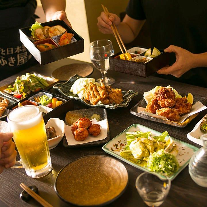 日本酒で乾杯♪鶏と酒の旨みたっぷり