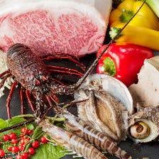 九州より届く極上肉をコースで堪能