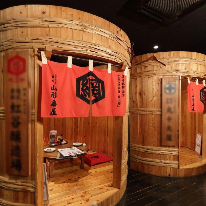 名物「樽個室」