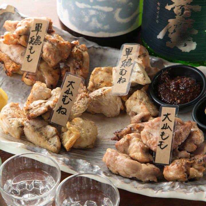 大人気!名物・地鶏4種の食べ比べ