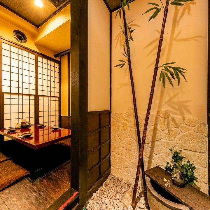お忍びデートに個室。風情ある空間
