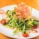 超有名豆腐と水菜のシャキシャキサラダ