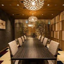 完全個室は「6室」洗練された和空間