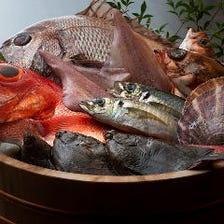 新鮮で豊富な天然魚介類
