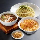 (至福ランチ)つけめんセット:つけめん+小北京飯+漬け物