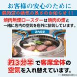 【4】排気ロースターによる店内換気