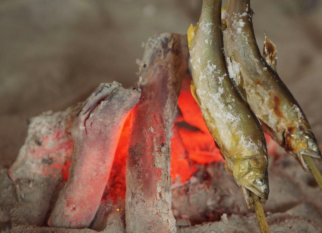 炭は原木備長炭を使ってます