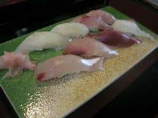房総で獲れた8種類の新鮮地魚の握り