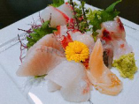 新鮮地魚の刺身盛り合せ ¥1600