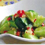 胡瓜の麻辣ニンニクソース和え