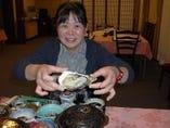 カキフライ定食 岩手県広田湾産の大きなカキフライです。