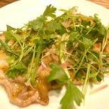 豚ロースの香味野菜のせ
