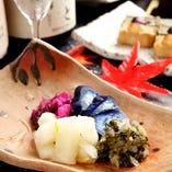 京都名物、お漬物盛り合わせもどうぞ。