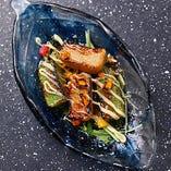 京都の生麩を使った創作料理もご用意。とろけるような生麩の味わいをお楽しみください。