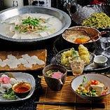 季節に応じて旬の食材を取り入れたコースを多数ご用意しております。