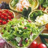 フレッシュ野菜のブッフェ