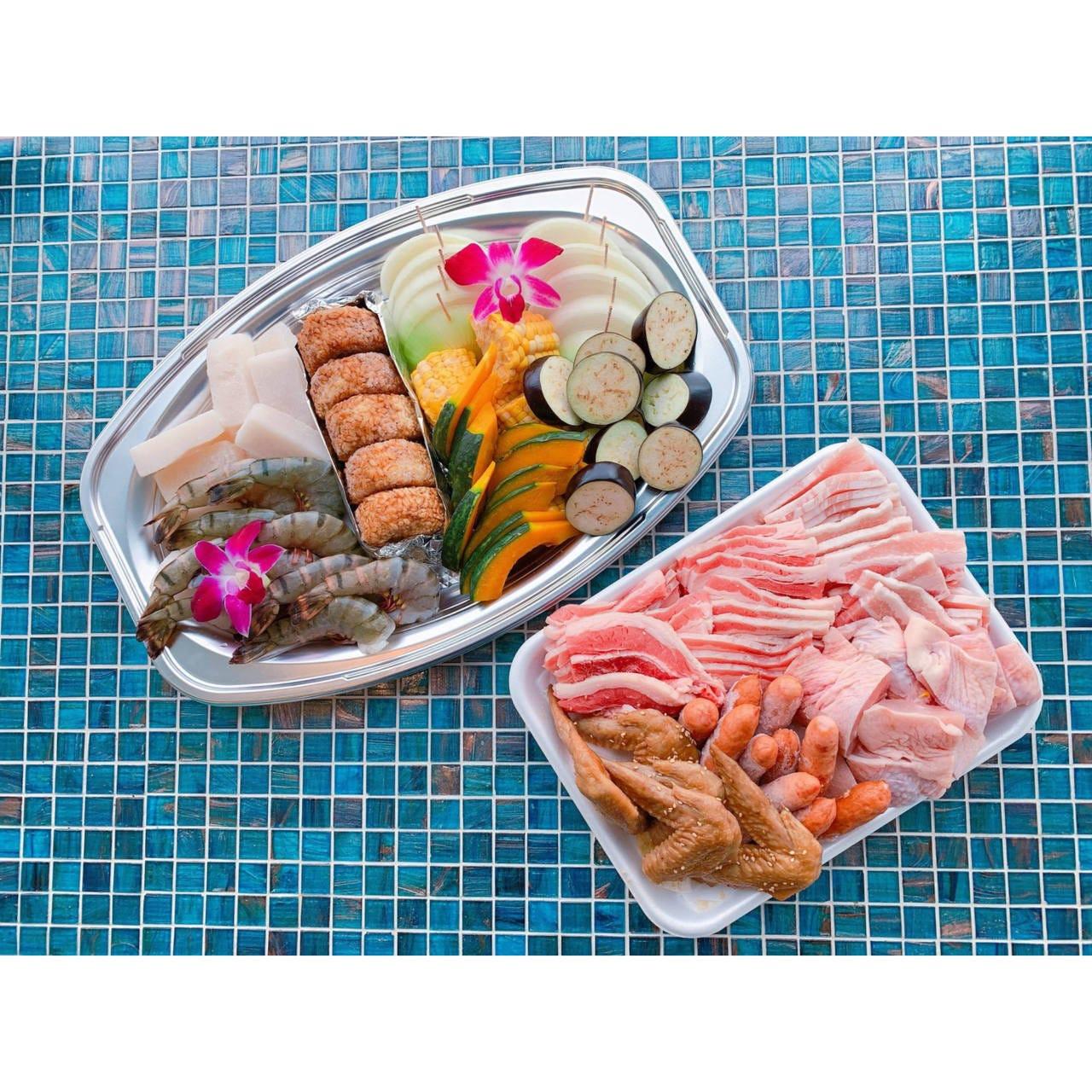 【食材付きBBQ】スタンダードプラン(施設利用料、テーブル利用料込み)ハイシーズン(7/1〜9/30)
