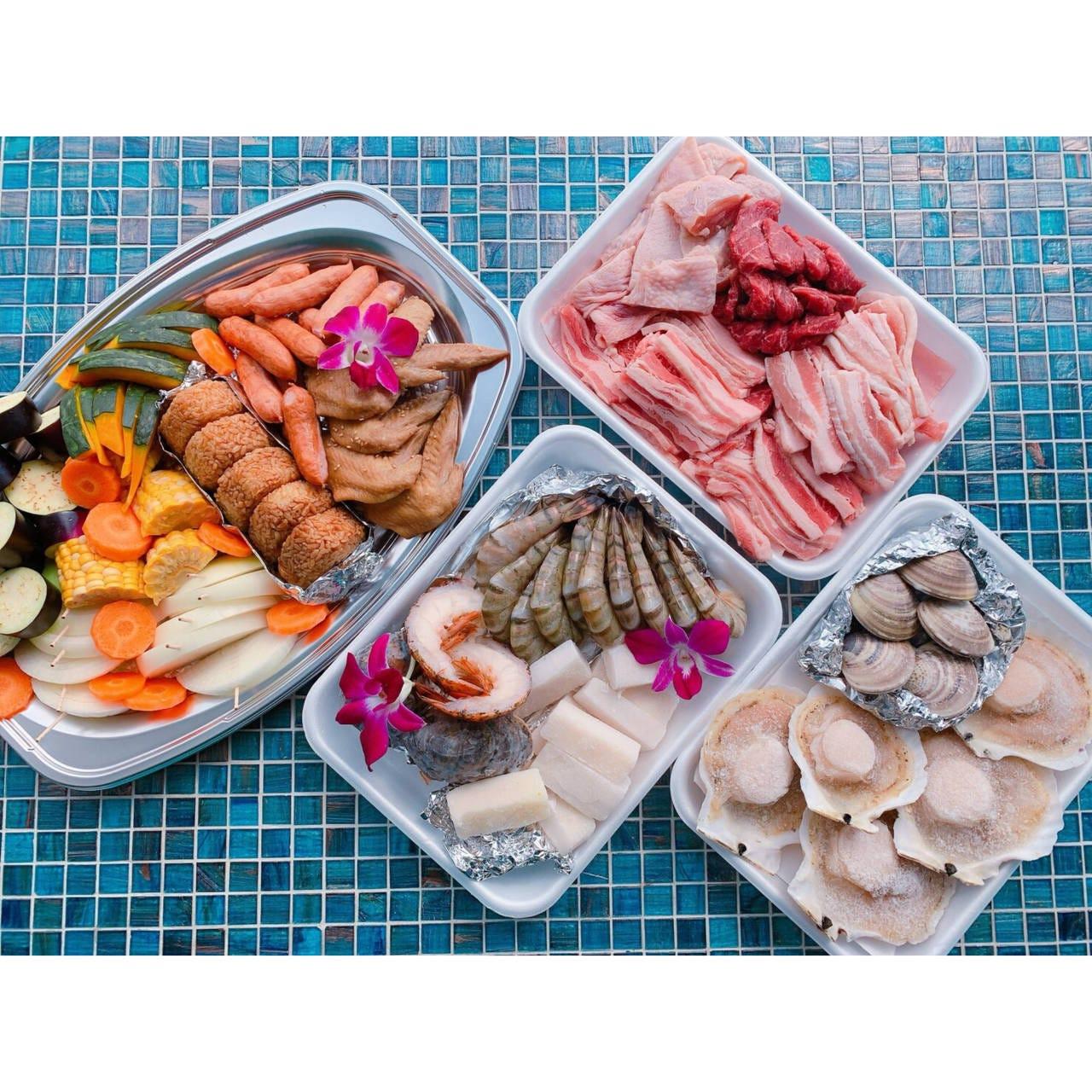 【食材付きBBQ】プレミアムプラン(施設利用料、テーブル利用料込み)ハイシーズン(7/1〜9/30)